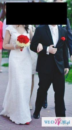 Piękna koronkowa suknia ślubna Viola Piekut ! rozm. 36 / 38 ecru