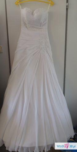 Piękna Muślinowa Suknia Ślubna roz. 36