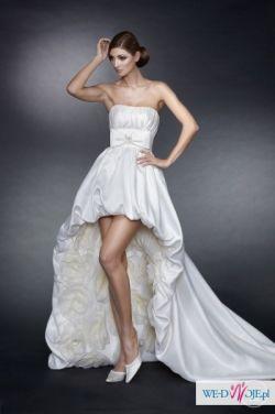 Piekna, orginalna suknia ślubna
