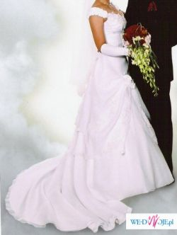 piekna, oryginalana suknia slubna