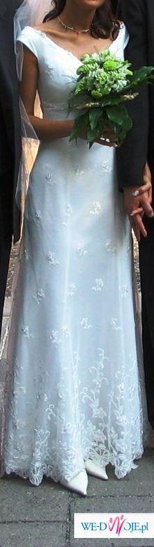 Piekna oryginalna suknia slubna