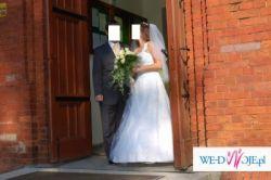 Piękna, oryginalna suknia ślubna