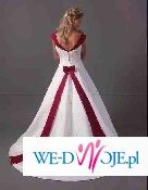 Piękna oryginalna suknia ślubna