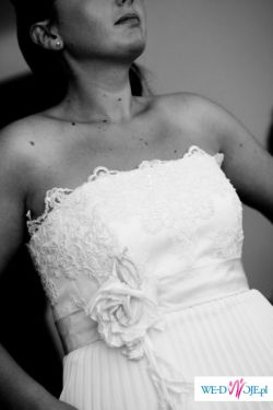 Piękna plisowana suknia ślubna!!!!