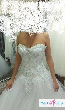 Piękna princesska suknia ślubna + GRATISY!!