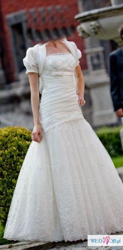 Piekna ręcznie szyta suknia roz 36 OKAZJA !!!