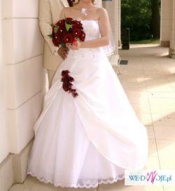 Piękna, rozłożysta suknia 36 – 38 +bolerko+buty
