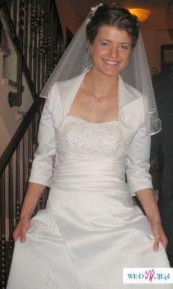 Piękna, skromna suknia ecru