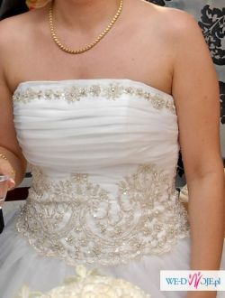 Piękna ślubna suknia 36/38 Leona Lee