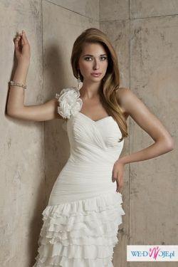Piękna śmietankowa suknia Ariadna Fulara&Żywczyk rozm 36