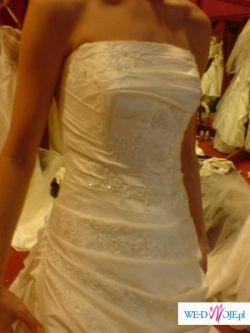 "piękna subelna suknia ślubna szyta na wzór sukni ""olga"" pronovias"