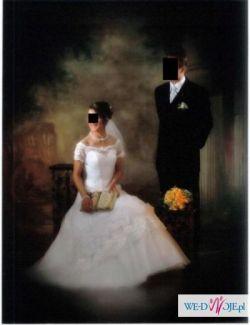Piekna, subtelna, biała suknia ślubna w super cenie