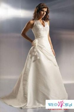 Piękna, subtelna suknia -model: Agnes 1566 plus dodatki w atrakcyjnej cenie.