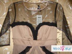 Piękna Sukienka!!! Asos tiul + koronka nude