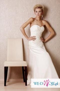 piękna sukienka ślubna ANNAIS BRIDAL + GRATIS biżuteria ślubna