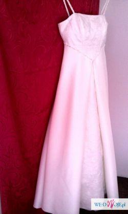 Piekna sukienka slubna jak nowa modny fason