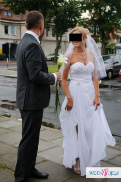 Piękna sukienka ślubna. Polecam!