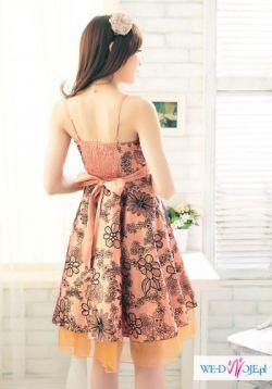 Piękna sukienka w tafty 38/40