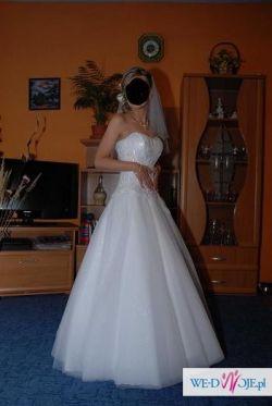 Piękna suknia dla szczupłej pani ok 160 cm