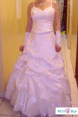 piękna suknia ecri