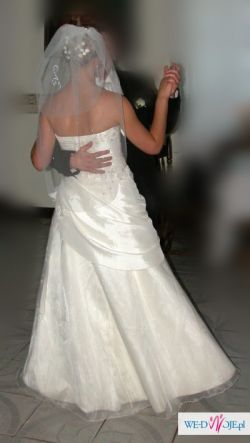 Piękna suknia ecru 38 + 2 welony gratis!!!