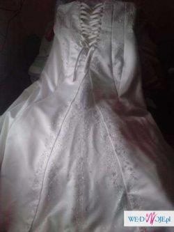 Piękna suknia ecru w rozmiarze 48