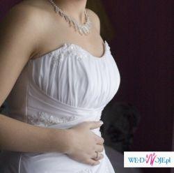 Piękna suknia firmy Kareen + gratis welon, podwiązka.