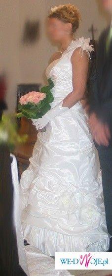 Piękna suknia jednoczęściowa kolor jasny ecru Skrzyszowska style