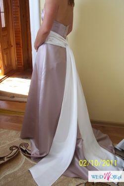 Piękna suknia KOLORU CAPPUCINO