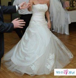 Piękna suknia koloru ecru POLECAM !!!