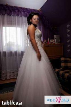 Piękna suknia księżniczka + dodatki