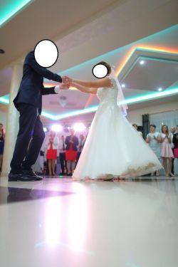 piękna suknia ślubna 2016 koronki gorset 40 42 44