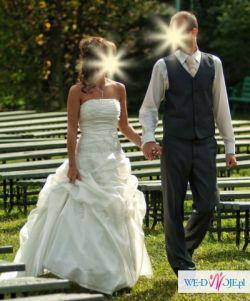 Piękna suknia ślubna 36/38 + dodatki