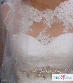 Piekna suknia slubna 36-38, komplet buty welon
