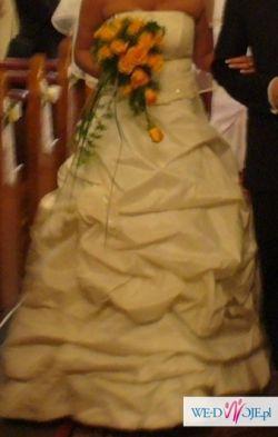 piękna suknia ślubna 40-42