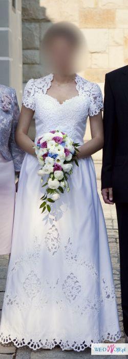 piękna suknia ślubna 40 Poznań