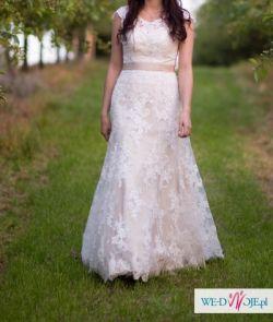 Piękna Suknia ślubna Afrodyta 36 38 Ecru Suknie ślubne