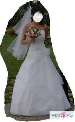 Piękna suknia ślubna Angelika w rozmiarze 34 (wzrost ok. 165 cm)