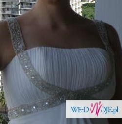 Piękna suknia ślubna ciążowa
