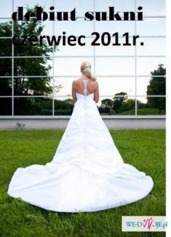 Piękna suknia ślubna COSMOBELLA 7464- OKAZJA!!!!!