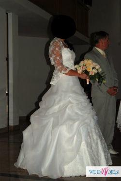 Piekna suknia ślubna+dodatki.Bardzo tanio!!