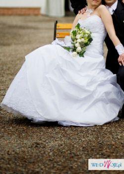 piekna suknia slubna + DODATKI GRATIS