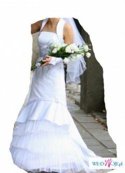 Piękna suknia ślubna+Dodatki rozm. 34/36 160-164