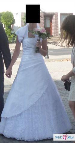 Piękna suknia ślubna Duber + Gratisy
