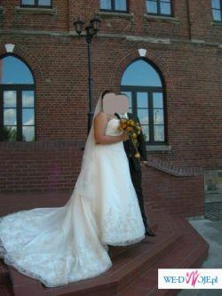 piękna suknia ślubna - duży rozmiar (46-48)