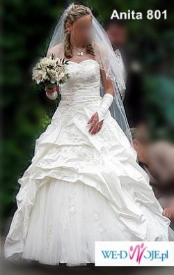 Piękna suknia ślubna ecrii w rozmiarze 38