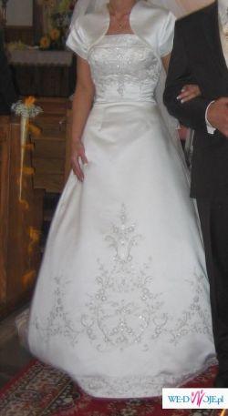 Piękna suknia ślubna ecru