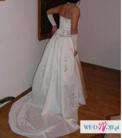 Piekna suknia ślubna ecru rozm.38