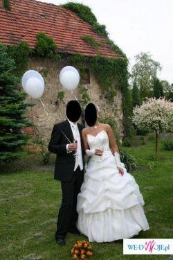 piekna suknia ślubna ecru rozmiar 38