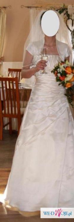 Piękna suknia ślubna ECRU - rozmiar 38